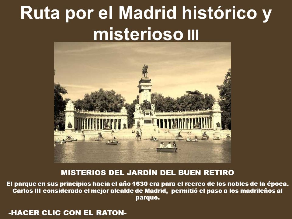 Ruta por el Madrid histórico y misterioso III