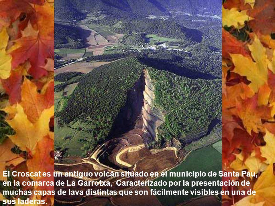 El Croscat es un antiguo volcán situado en el municipio de Santa Pau, en la comarca de La Garrotxa, Caracterizado por la presentación de muchas capas de lava distintas que son fácilmente visibles en una de sus laderas.
