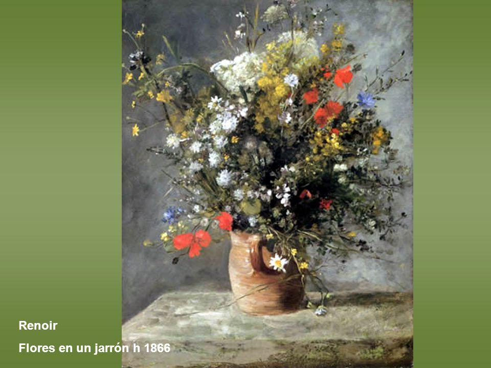 Renoir Flores en un jarrón h 1866