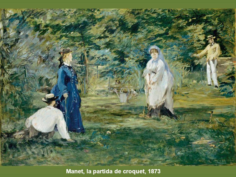 Manet, la partida de croquet, 1873
