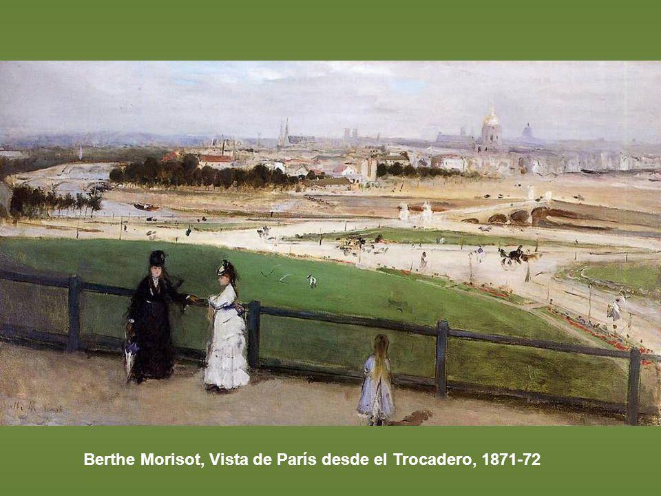 Berthe Morisot, Vista de París desde el Trocadero, 1871-72