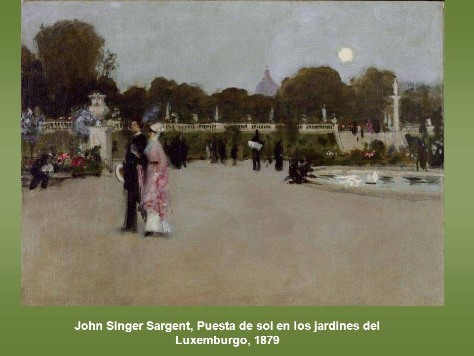 John Singer Sargent, Puesta de sol en los jardines del Luxemburgo, 1879