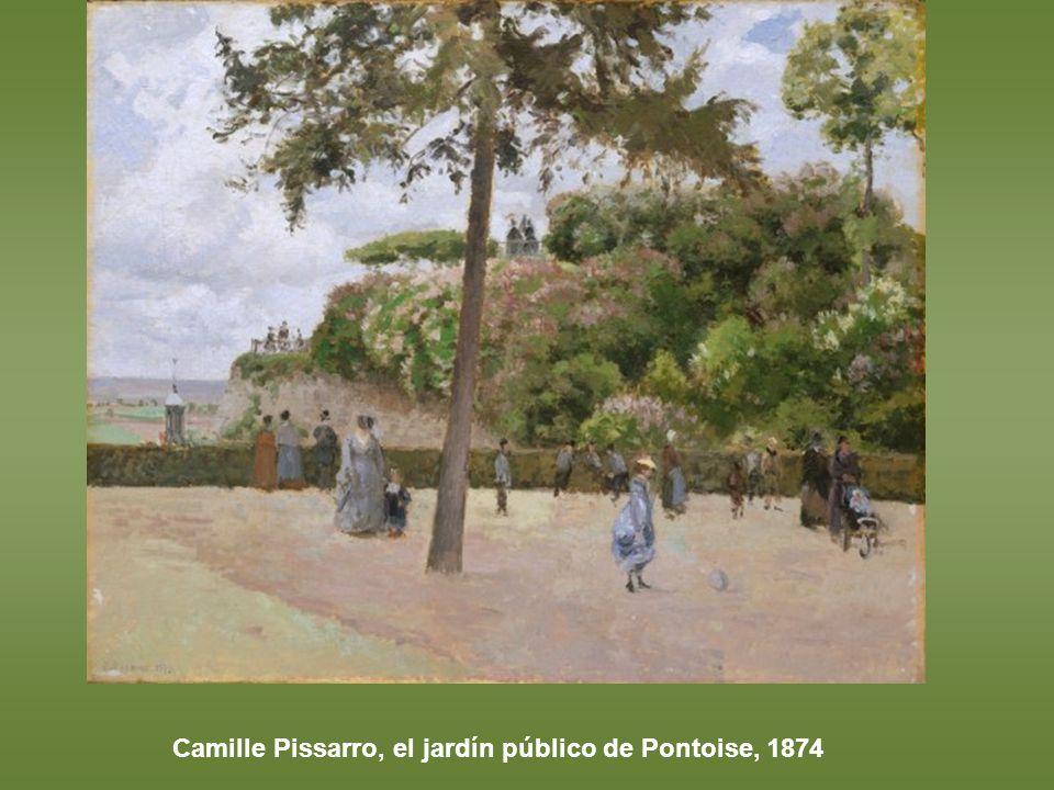 Camille Pissarro, el jardín público de Pontoise, 1874