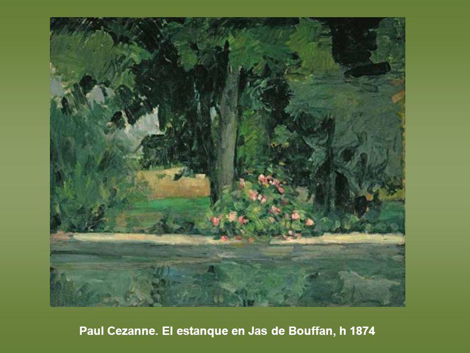 Paul Cezanne. El estanque en Jas de Bouffan, h 1874