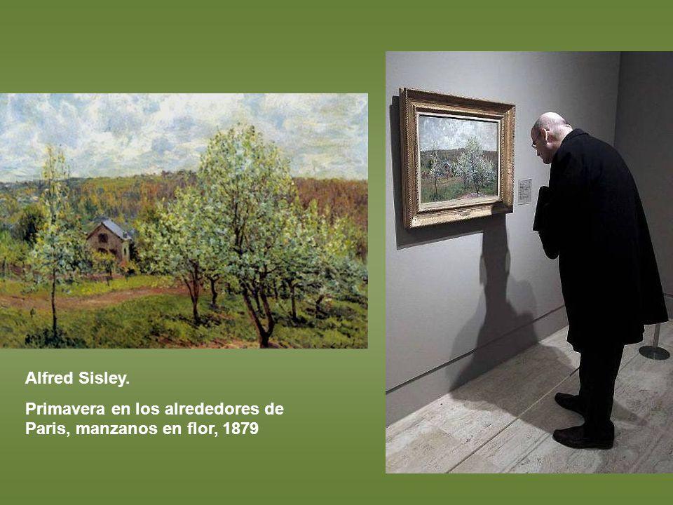 Alfred Sisley. Primavera en los alrededores de Paris, manzanos en flor, 1879