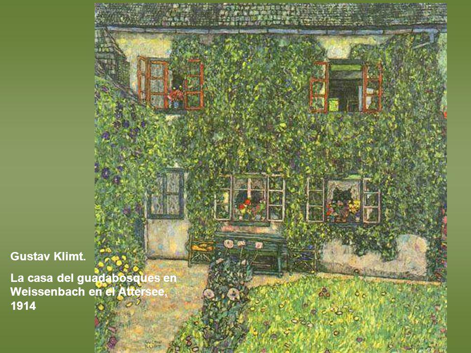 Gustav Klimt. La casa del guadabosques en Weissenbach en el Attersee, 1914