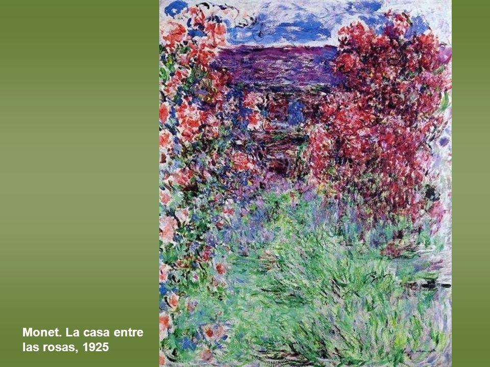Monet. La casa entre las rosas, 1925
