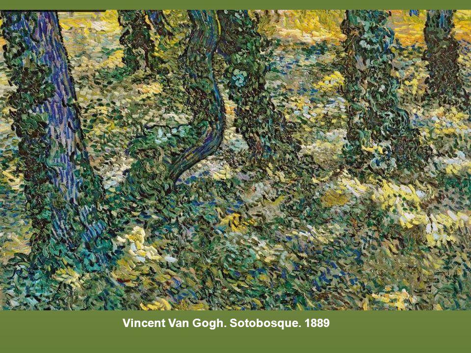 Vincent Van Gogh. Sotobosque. 1889