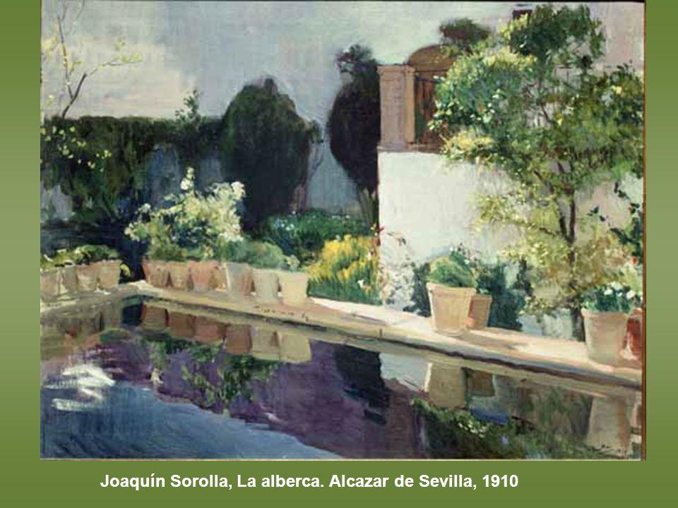 Joaquín Sorolla, La alberca. Alcazar de Sevilla, 1910