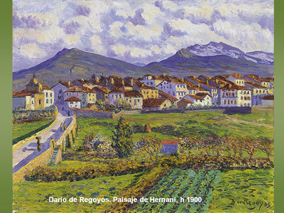 Dario de Regoyos. Paisaje de Hernani, h 1900
