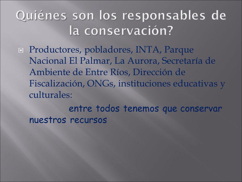 Quiénes son los responsables de la conservación