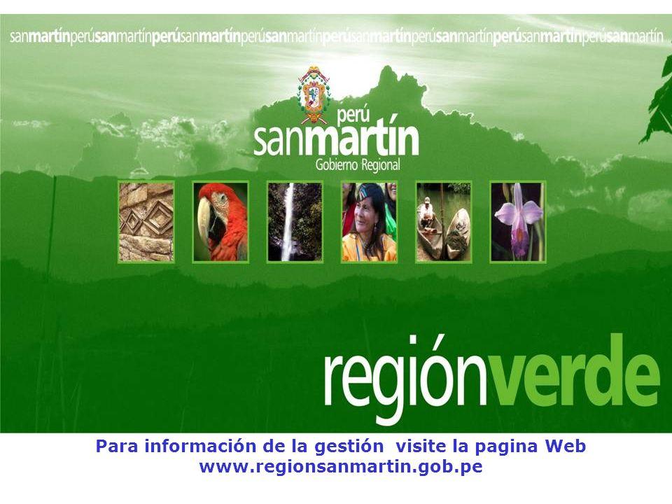 Para información de la gestión visite la pagina Web