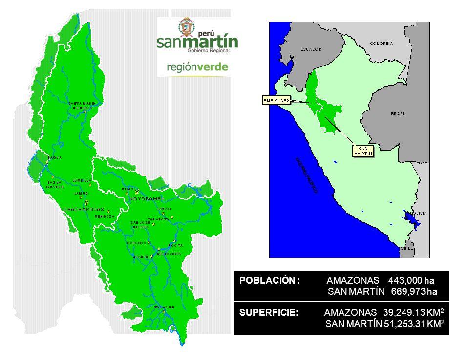 POBLACIÓN : AMAZONAS 443,000 ha