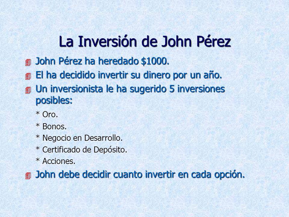 La Inversión de John Pérez