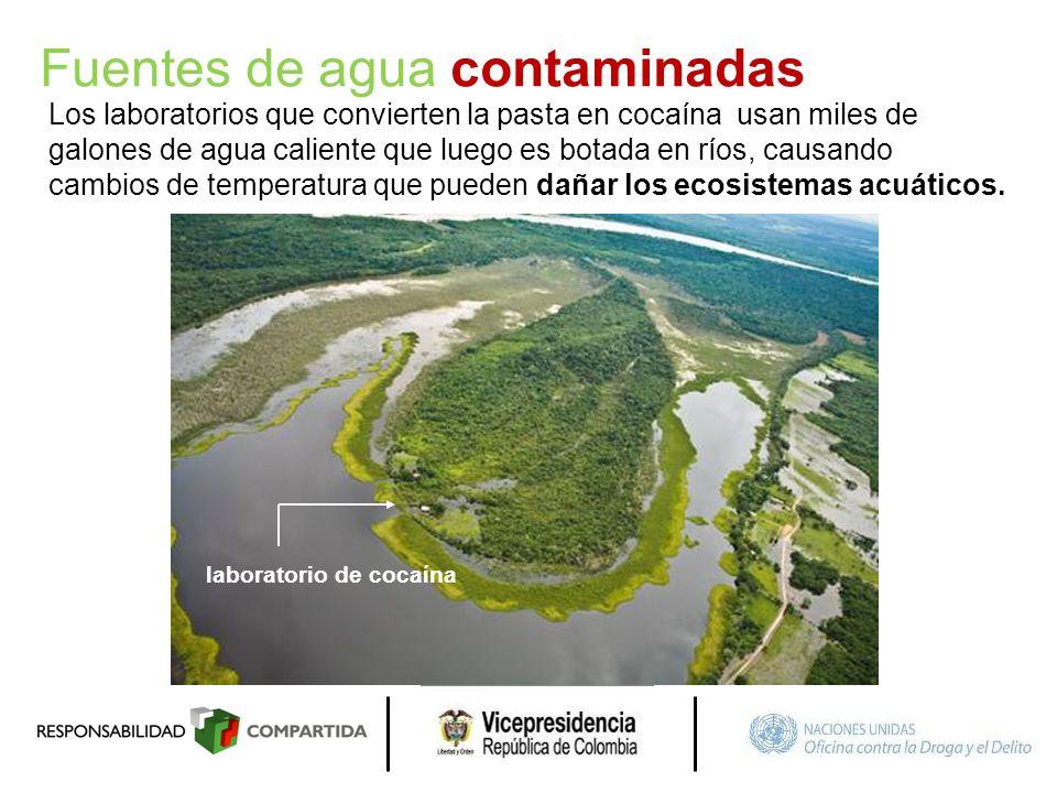 Fuentes de agua contaminadas