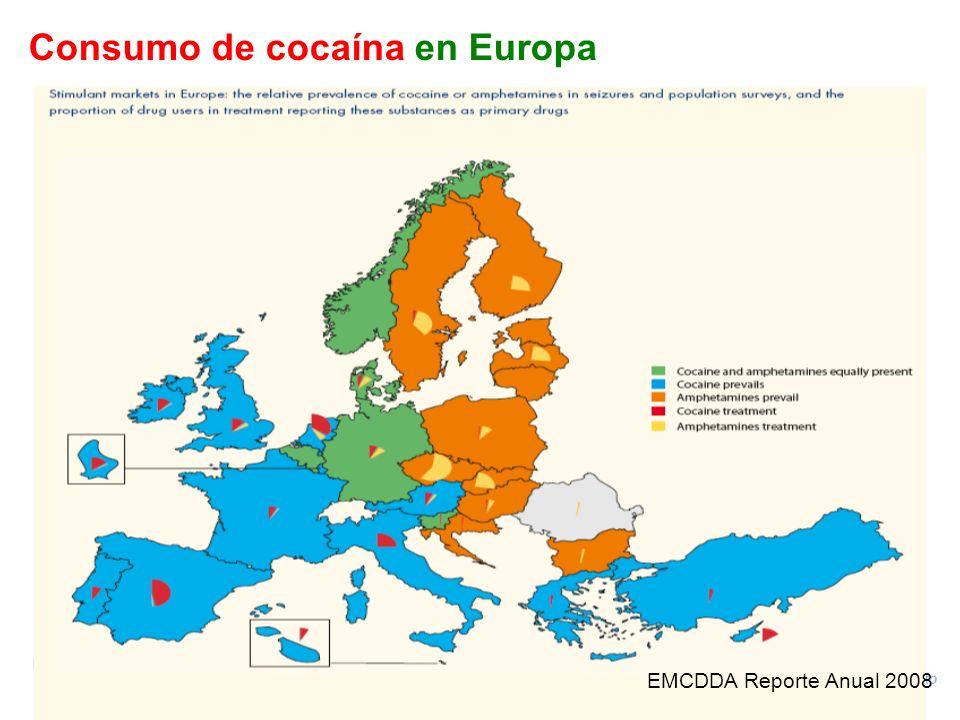 Consumo de cocaína en Europa