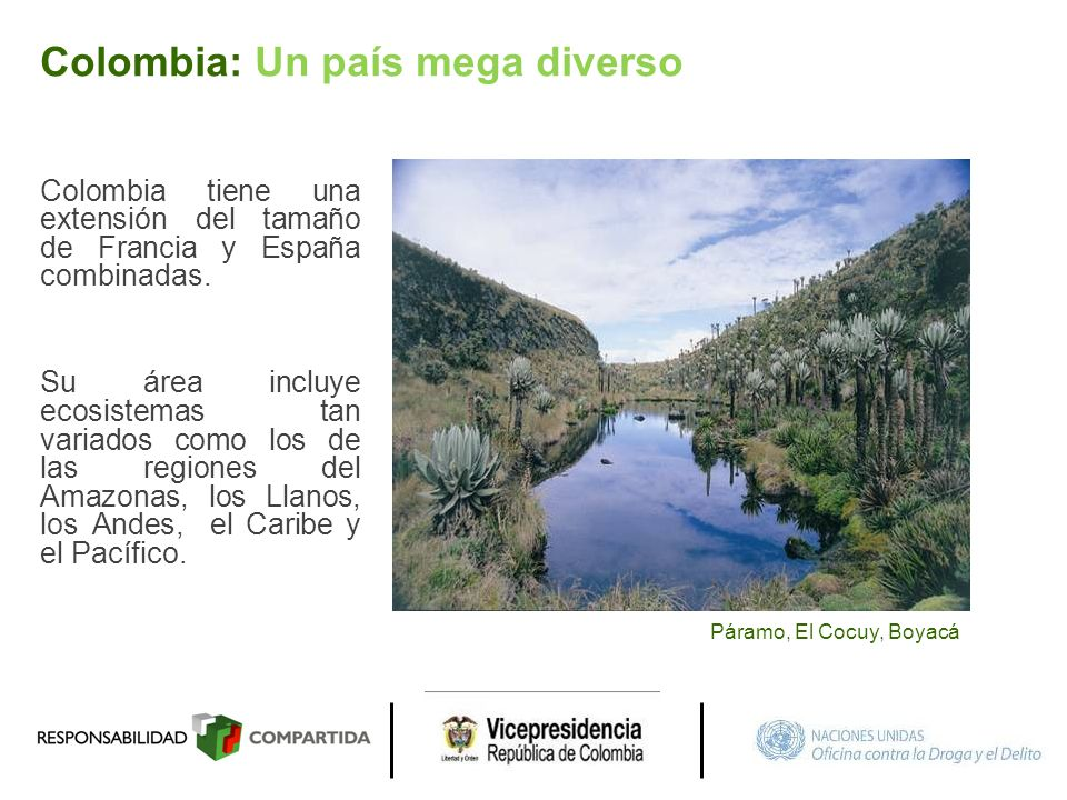 Colombia: Un país mega diverso