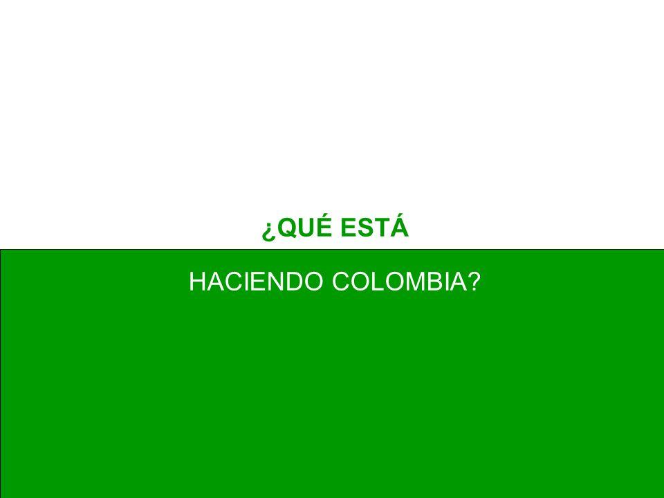 ¿QUÉ ESTÁ HACIENDO COLOMBIA