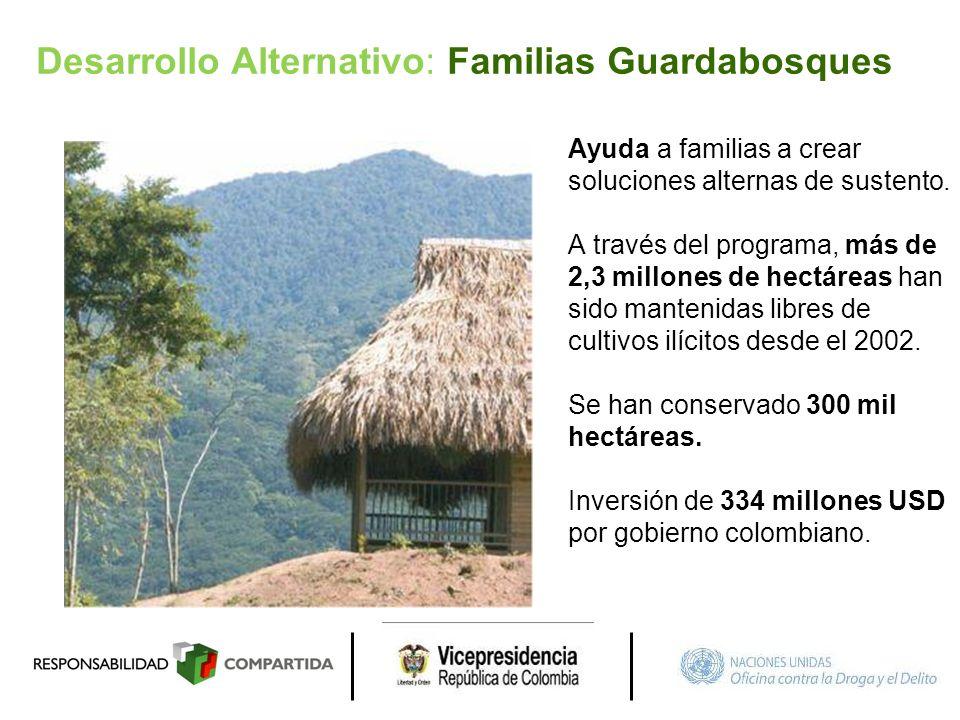Desarrollo Alternativo: Familias Guardabosques
