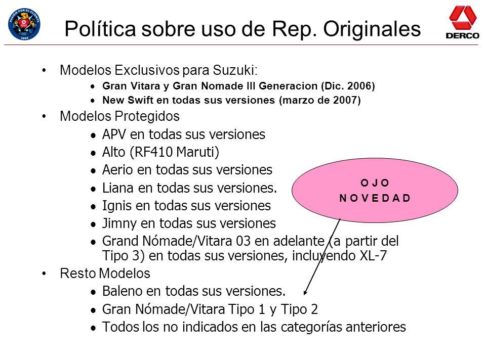 Política sobre uso de Rep. Originales