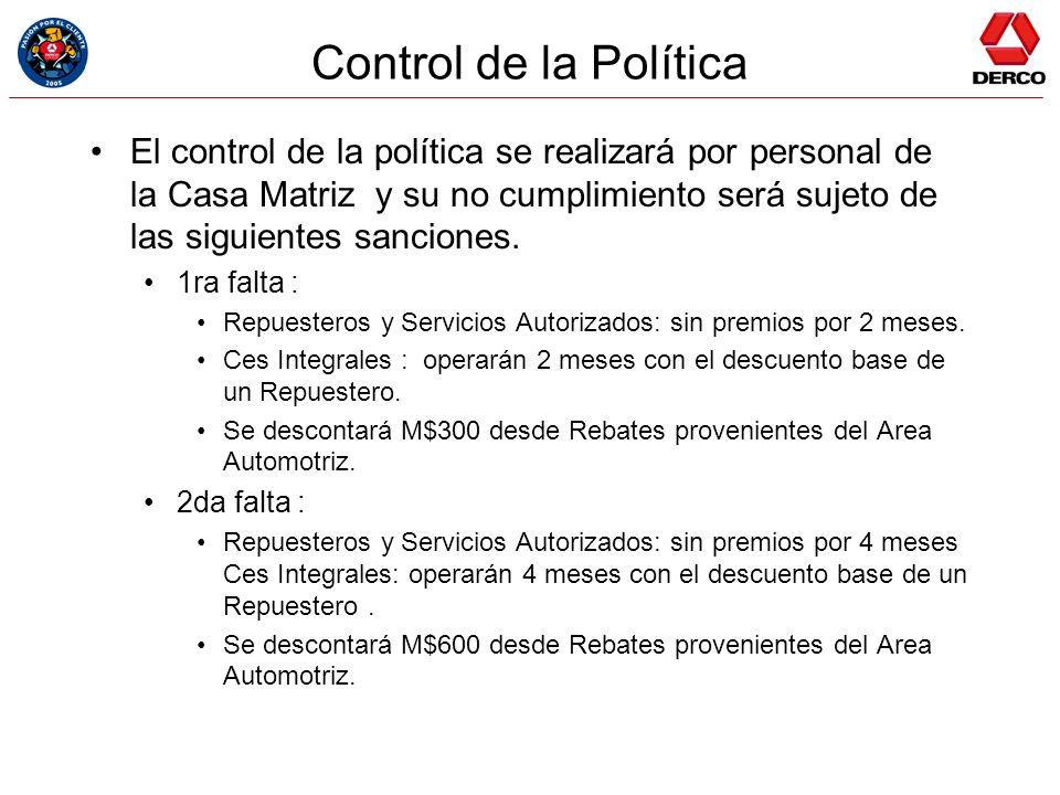 Control de la Política