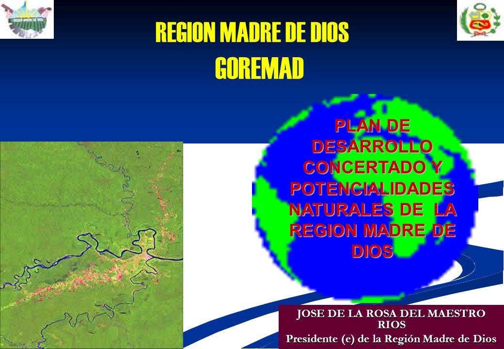 REGION MADRE DE DIOS GOREMAD PLAN DE DESARROLLO CONCERTADO Y
