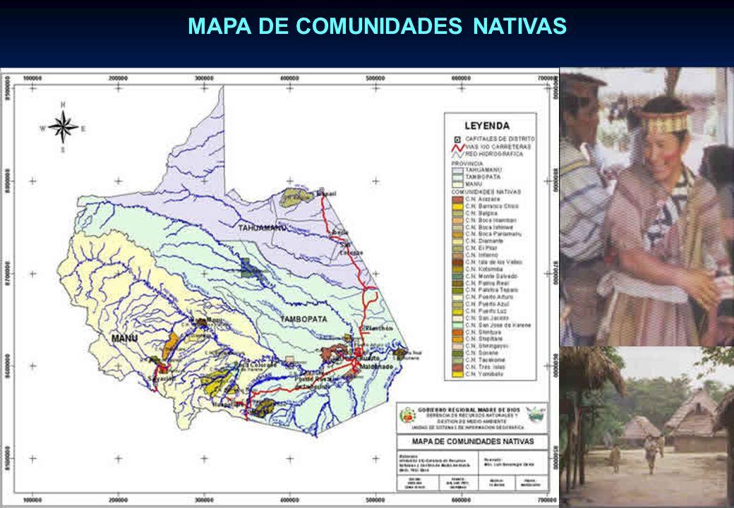 MAPA DE COMUNIDADES NATIVAS
