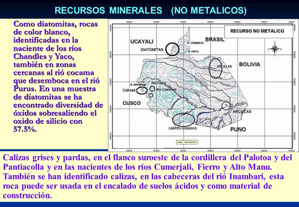 RECURSOS MINERALES (NO METALICOS)