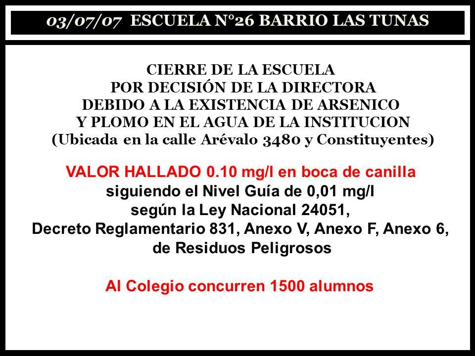 03/07/07 ESCUELA N°26 BARRIO LAS TUNAS