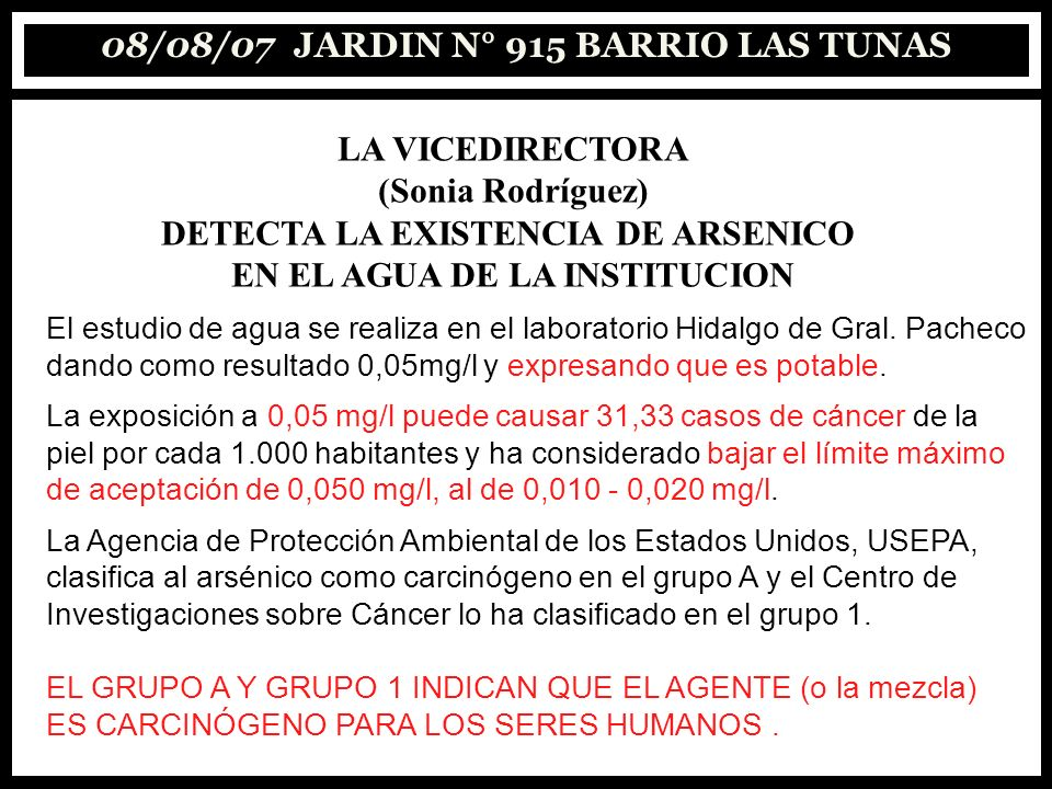 08/08/07 JARDIN N° 915 BARRIO LAS TUNAS