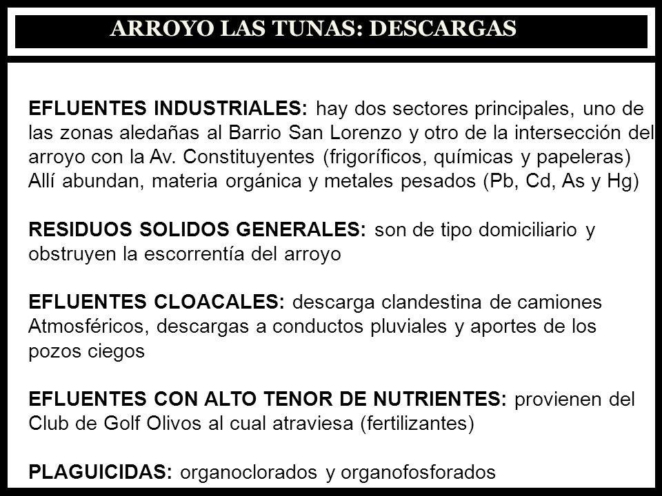ARROYO LAS TUNAS: DESCARGAS
