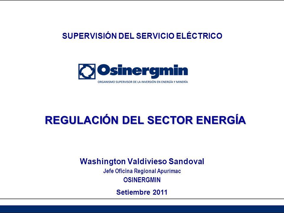 REGULACIÓN DEL SECTOR ENERGÍA