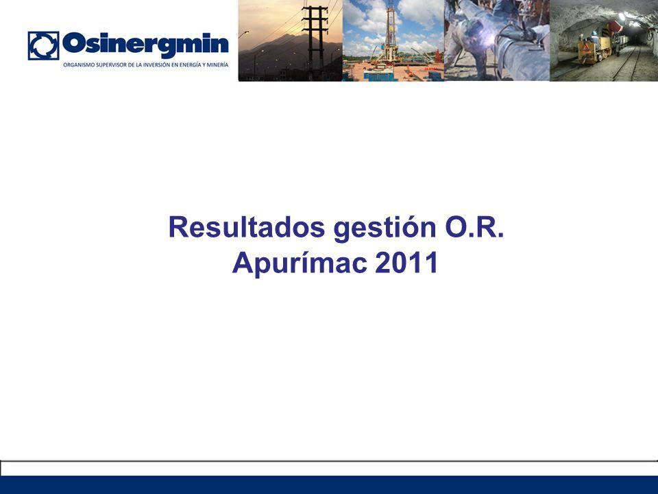 Resultados gestión O.R. Apurímac 2011