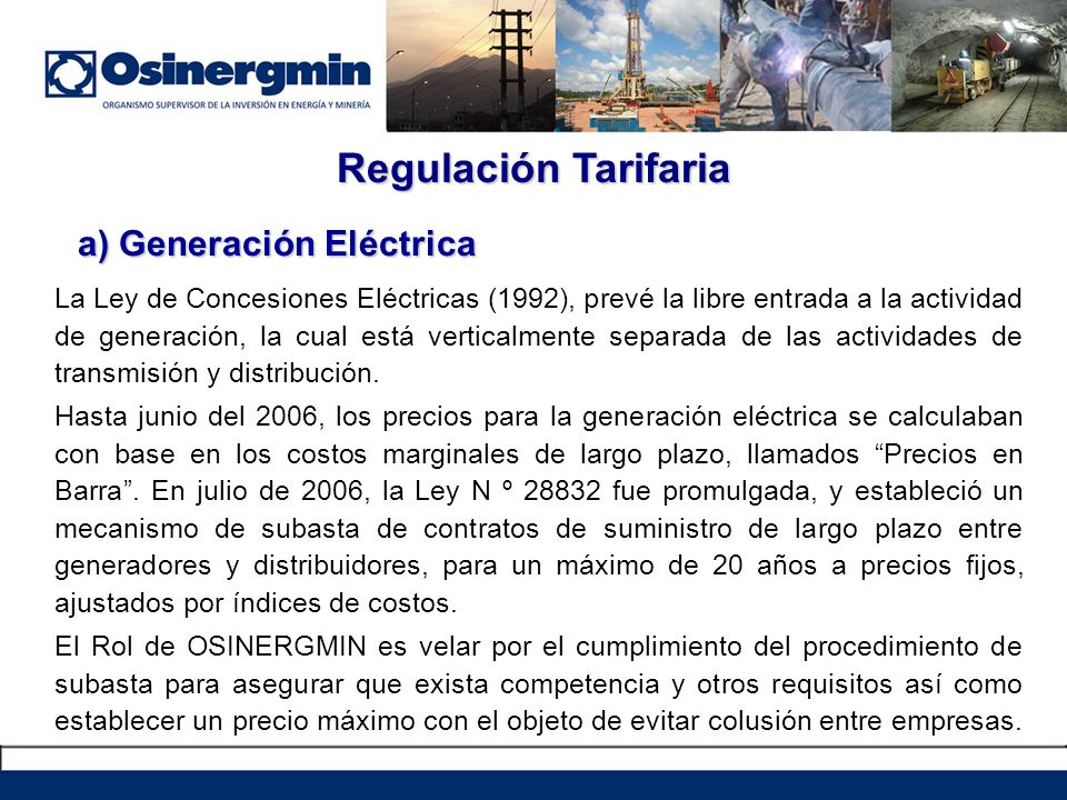 a) Generación Eléctrica