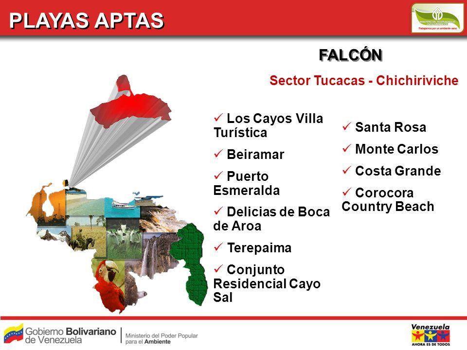 PLAYAS APTAS FALCÓN Sector Tucacas - Chichiriviche