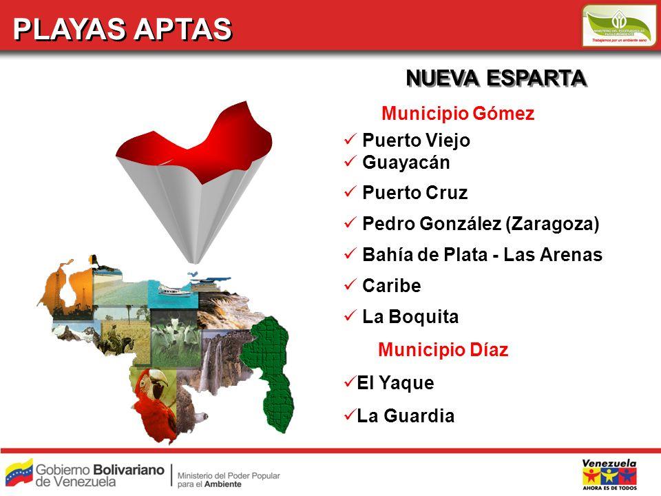 PLAYAS APTAS NUEVA ESPARTA Municipio Gómez Puerto Viejo Guayacán