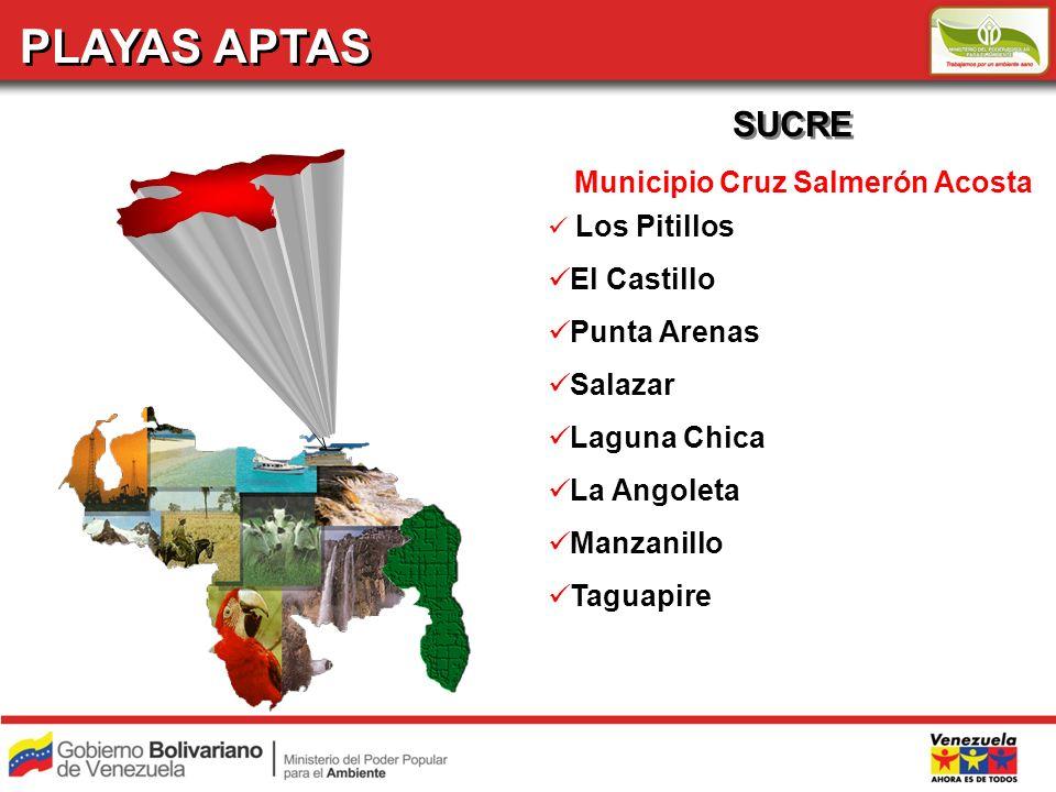 PLAYAS APTAS SUCRE Municipio Cruz Salmerón Acosta El Castillo