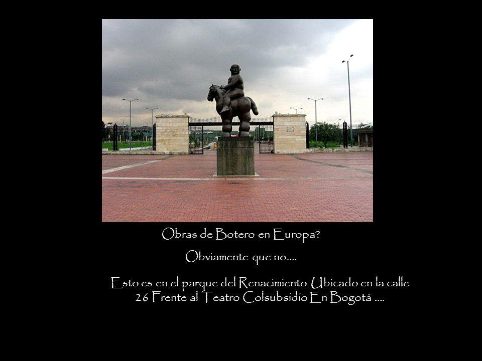 Obras de Botero en Europa