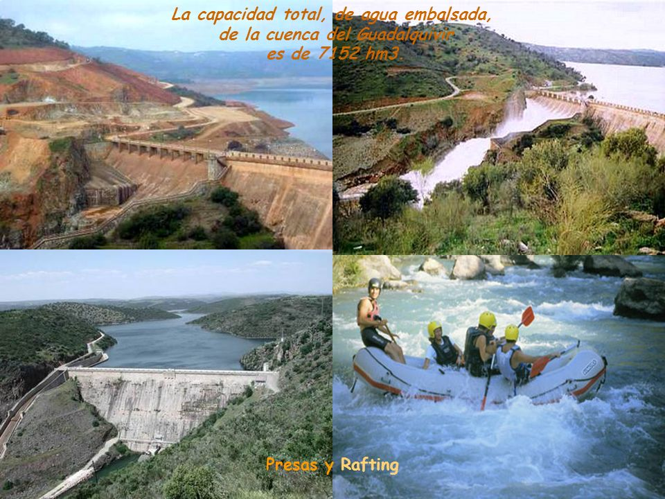 La capacidad total, de agua embalsada, de la cuenca del Guadalquivir