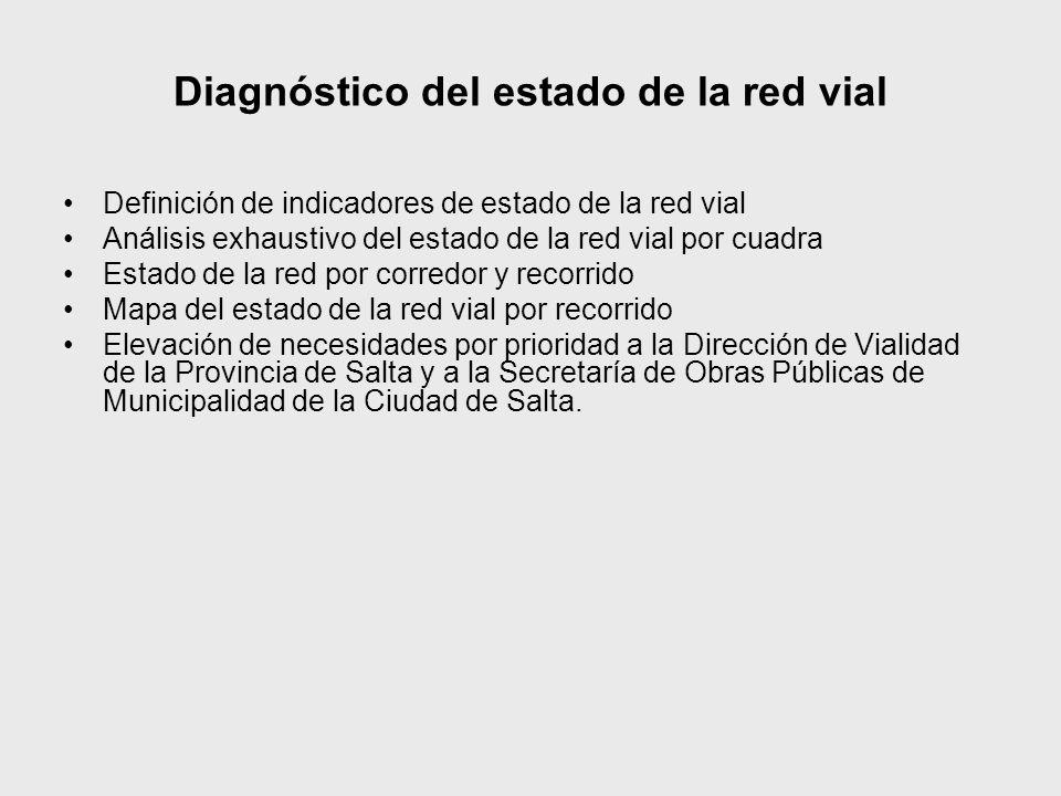 Diagnóstico del estado de la red vial