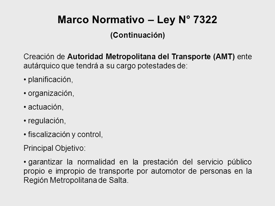 Marco Normativo – Ley N° 7322