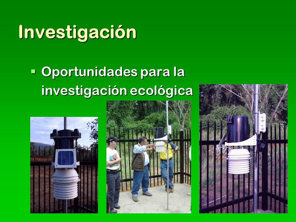 Investigación Oportunidades para la investigación ecológica