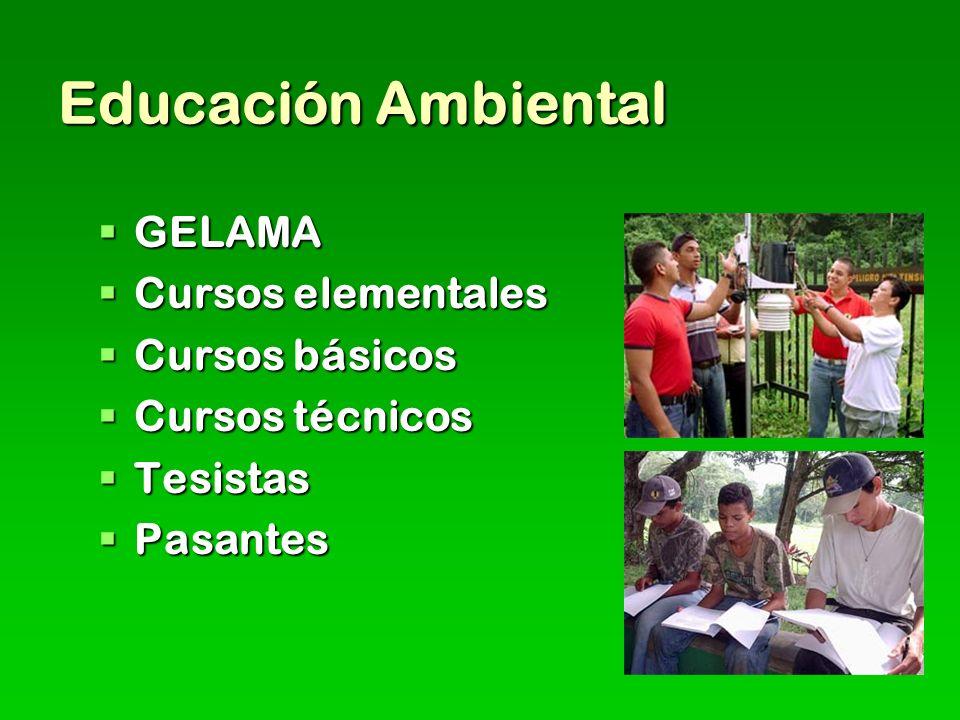 Educación Ambiental GELAMA Cursos elementales Cursos básicos