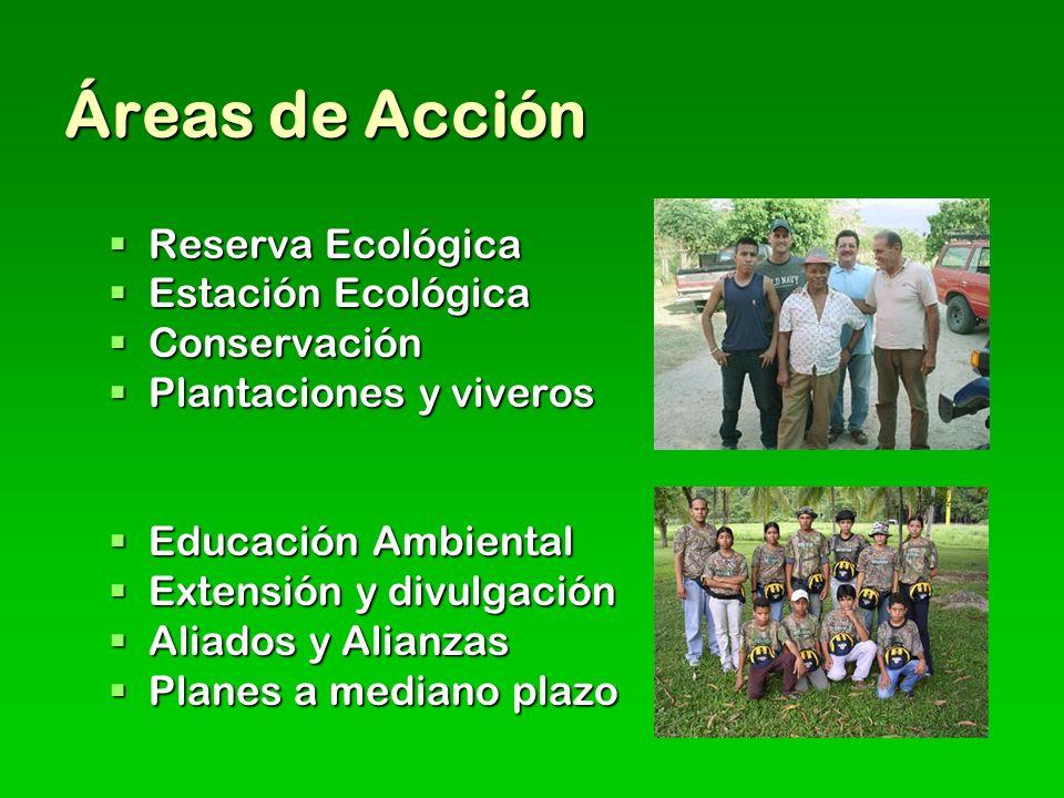 Áreas de Acción Reserva Ecológica Estación Ecológica Conservación