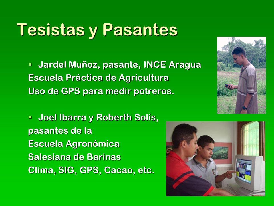 Tesistas y Pasantes Jardel Muñoz, pasante, INCE Aragua