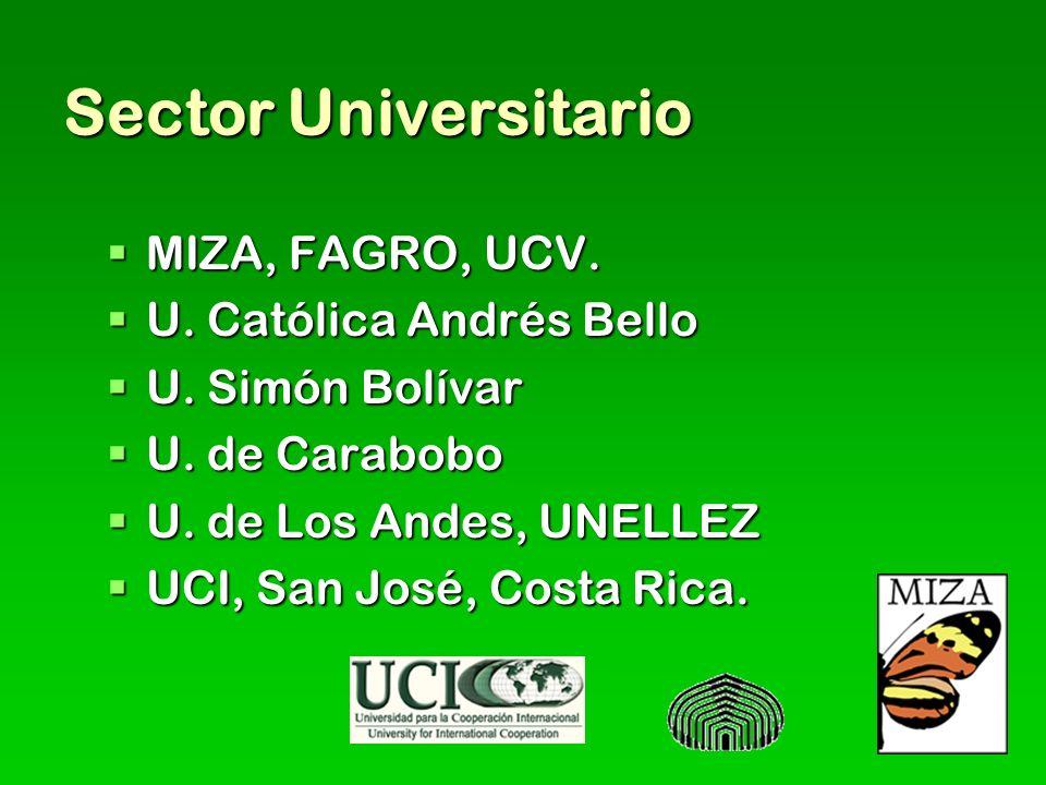Sector Universitario MIZA, FAGRO, UCV. U. Católica Andrés Bello