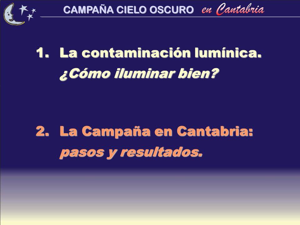 La contaminación lumínica. ¿Cómo iluminar bien