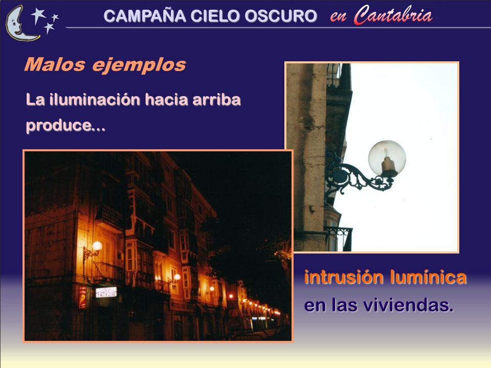 Malos ejemplos intrusión lumínica en las viviendas.