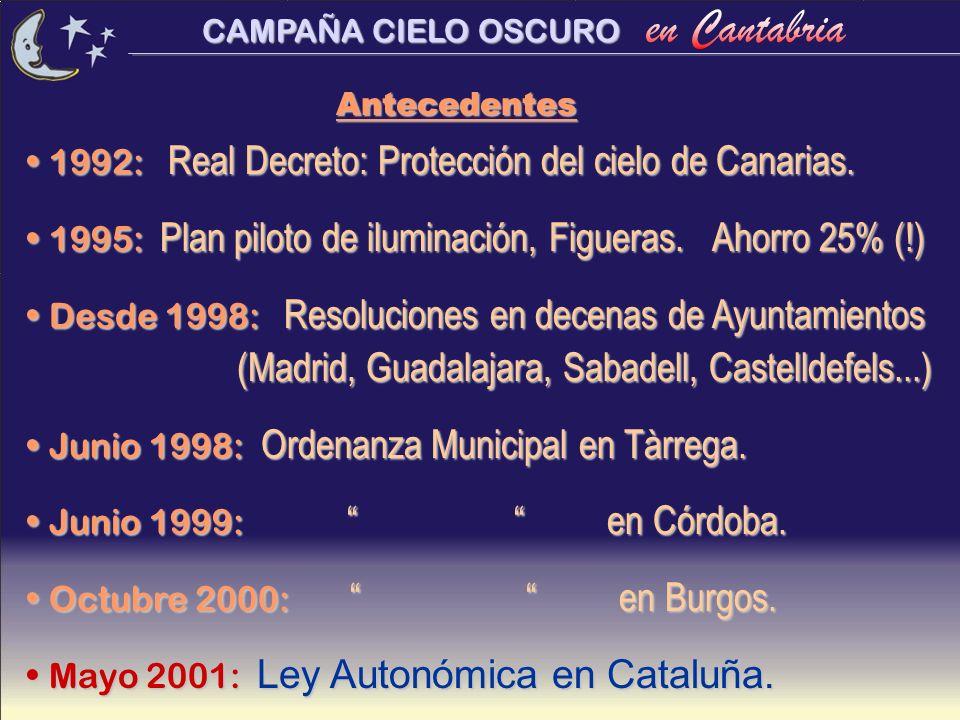 1992: Real Decreto: Protección del cielo de Canarias.