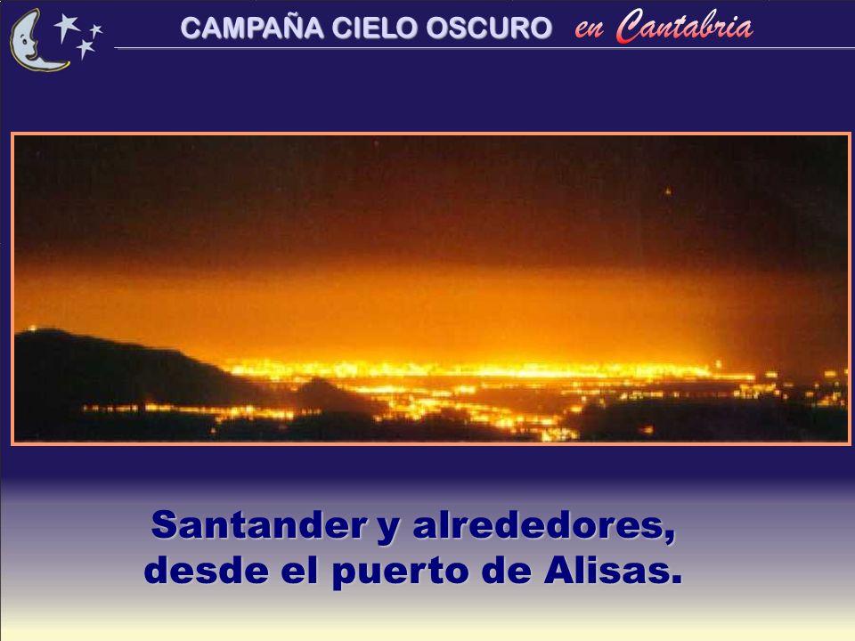 Santander y alrededores, desde el puerto de Alisas.